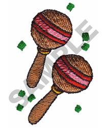 MARACAS embroidery design