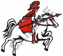 TROJAN ON HORSEBACK embroidery design