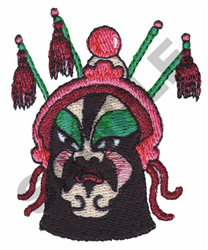 Chinese Opera Theatre Makeup embroidery design