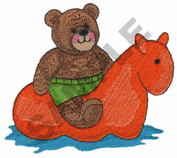 BEAR ON FLOAT embroidery design
