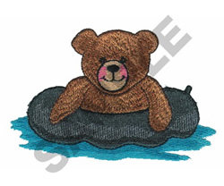 BEAR ON A FLOAT embroidery design