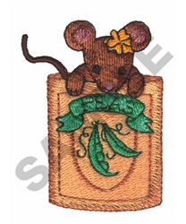 MOUSE & PEAS embroidery design