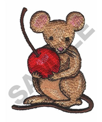 MOUSE WITH CHERRY embroidery design
