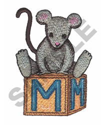 """""""M"""" IS FOR MOUSE embroidery design"""