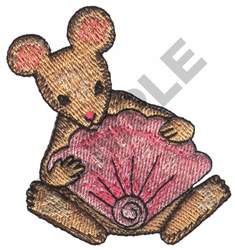 MOUSE WITH SEASHELL embroidery design