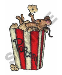 MOUSE IN THE POPCORN embroidery design
