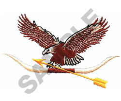EAGLE, ARROW & HORN embroidery design
