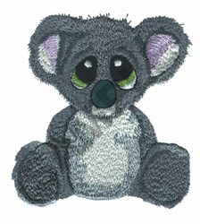 DONT CRY KOALA embroidery design