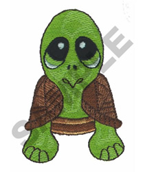 BIG EYED TURTLE embroidery design
