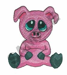 BIG-EYED PIG embroidery design
