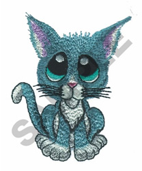 BIG EYED CAT embroidery design