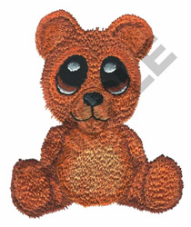 BIG EYED BEAR embroidery design
