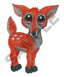 BIG EYED FAWN embroidery design