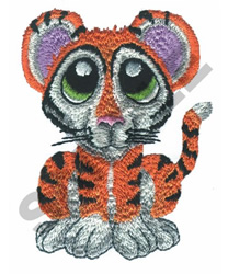 BIG EYED TIGER embroidery design