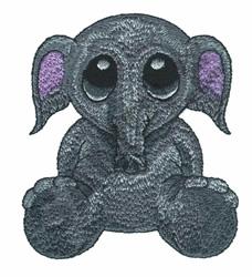 BIG-EYED ELEPHANT embroidery design