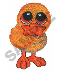 BIG EYED DUCKLING embroidery design