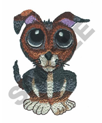 BIG EYED PUPPY embroidery design