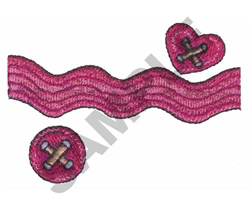 BUTTONS & RIBBON embroidery design