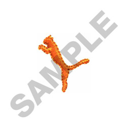 LEAPING CAT embroidery design