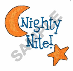NIGHTY NITE! embroidery design