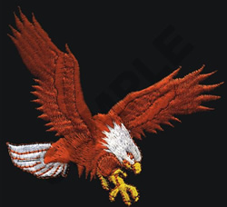 EAGLE (SEWN ON BLACK) embroidery design