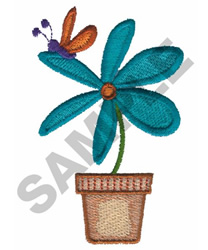 FLOWER ANDBUTTERFLY embroidery design