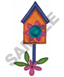 BIRD HOUSE embroidery design