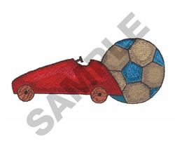 CAR AND SOCCER BALL embroidery design