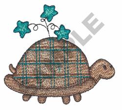 TURTLE W/STARS embroidery design