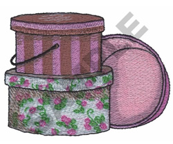 HAT STORAGE BOXES embroidery design