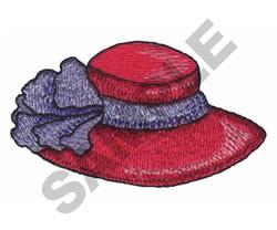 LADIES HAT embroidery design