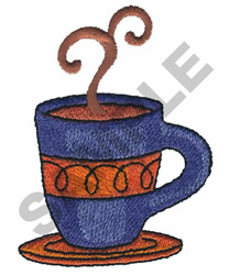 COFFEE IN A CUP embroidery design