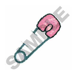 SAFETY PIN embroidery design