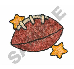 FOOTBALL AND STARS embroidery design