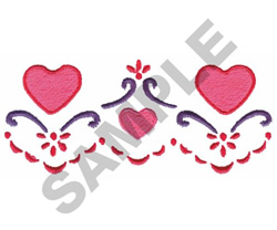 HEARTS & SCROLL BORDER embroidery design