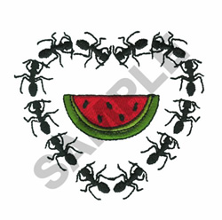 ANTS WITH WATERMELON embroidery design