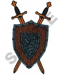 SWORDS W/SHIELD embroidery design