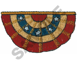 BUNTING embroidery design