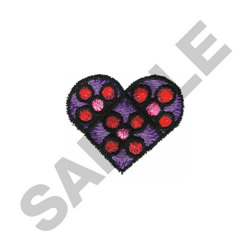 HEART STAINED GLASS embroidery design