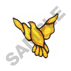 DOVE STAINED GLASS embroidery design