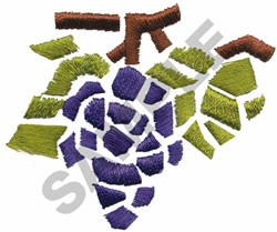 GRAPES MOSAIC embroidery design