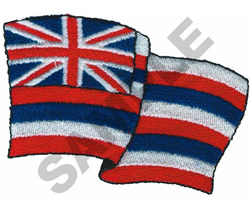 HAWAIIAN FLAG embroidery design
