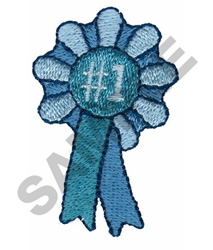 FIRST PLACE RIBBON embroidery design