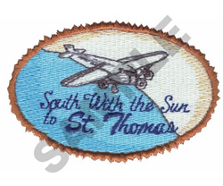 SOUTH WITH THE SUN TO ST. THOMAS embroidery design