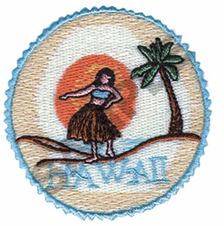HAWAII HULA DANCER embroidery design