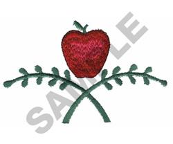 APPLE BORDER embroidery design