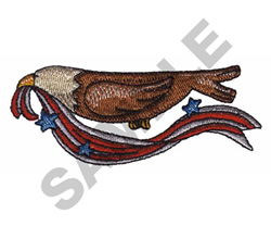 EAGLE WITH PATRIOTIC RIBBON embroidery design