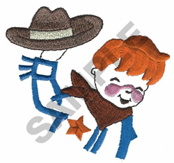 COWBOY WITH PINK CHEAKS embroidery design