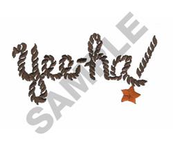 YEE-HA embroidery design