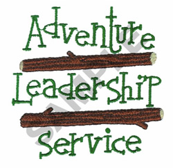 ADVENTURE LEADERSHIP SERVICES embroidery design